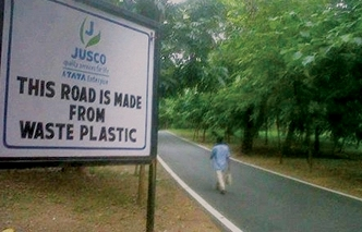 Photo of Jamshedpur uses plastic waste to build roads