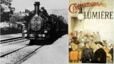 """Photo of """"The Arrival of a Train""""- the first movie"""